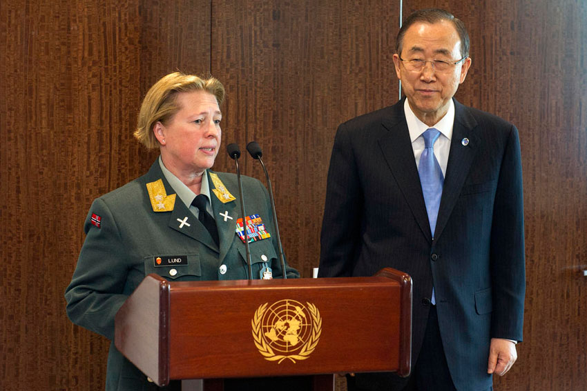 NORWEGIAN GENERAL BECOMES FIRST WOMAN COMMANDER TO HEAD UN PEACEKEEPING FORCE
