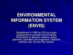 Environment Minister launches envis portal