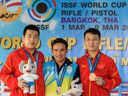 Jitu Rai won gold in 50m pistol event at ISSF World Cup
