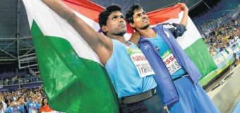 INDIA BAG GOLD, BRONZE IN MEN'S HIGH JUMP IN PARALYMPICS