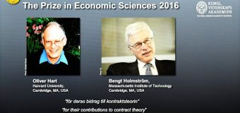 OLIVER HART AND BENGT HOLMSTROM WIN NOBEL IN ECONOMICS FOR WORK IN CONTRACT