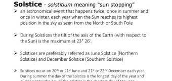 JUNE 21 MARKED SUMMER SOLSTICE IN NORTHERN HEMISPHERE