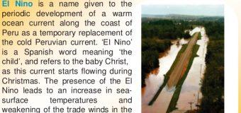 El NINO WEAKENS: BETTER MONSOON IN INDIA