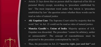 Delhi High Court: State Has Failed In Protecting Basic Right To Life Under Art. 21