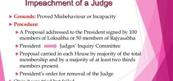 IMPEACHMENT PROCESS OF SUPREME COURT JUDGES
