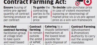 CENTRE UNVEILS MODEL CONTRACT FARMING LAW