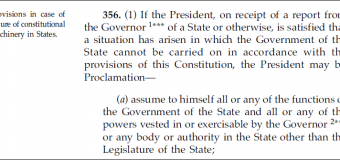 EMERGENCY PROVISIONS OF INDIAN CONSTITUTION: ART 356