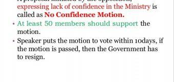 TDP MOVES NO CONFIDENCE MOTION IN LOK SABHA