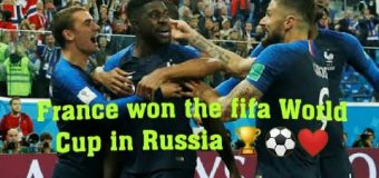 FRANCE WON THE FIFA WORLD CUP FINAL