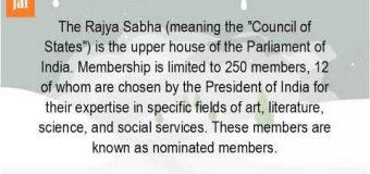 PRESIDENT NOMINATED 4 MEMBERS TO RAJYA SABHA