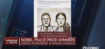 THE NOBEL PEACE PRIZE FOR 2018 WON BY DENIS MUKWEGE AND NADIA MURAD