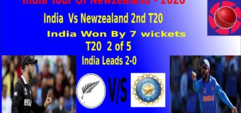 2nd T20: India beat New Zealand by 7 wickets