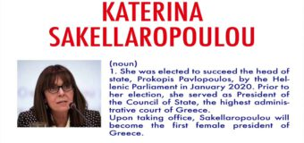 Katerina Sakellaropoulou becomes Greece's first female president