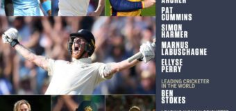 Ben Stokes becomes first English player since 2005 to be named Wisden's Leading Cricketer