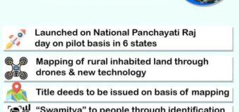 PM Modi launches SWAMITVA scheme
