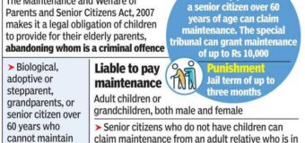Supreme Court : Aged parents can't resort to Senior Citizens Act to evict Daughter in Law