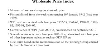 Wholesale Price Index — shot up to 7.39 per cent in March