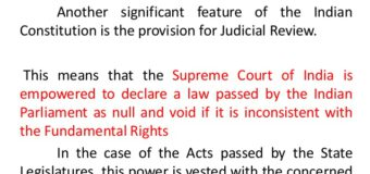 Justice as a fine balance: Judicial Activism, Judicial Review
